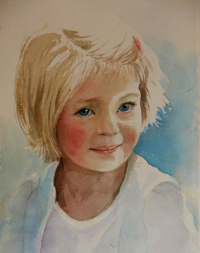 Portraits | Marina Kulik | Large Size Abstract Aquarelles: www.marinakulik.com/portfolio/portraits
