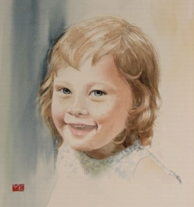Aquarelle portrait Kate